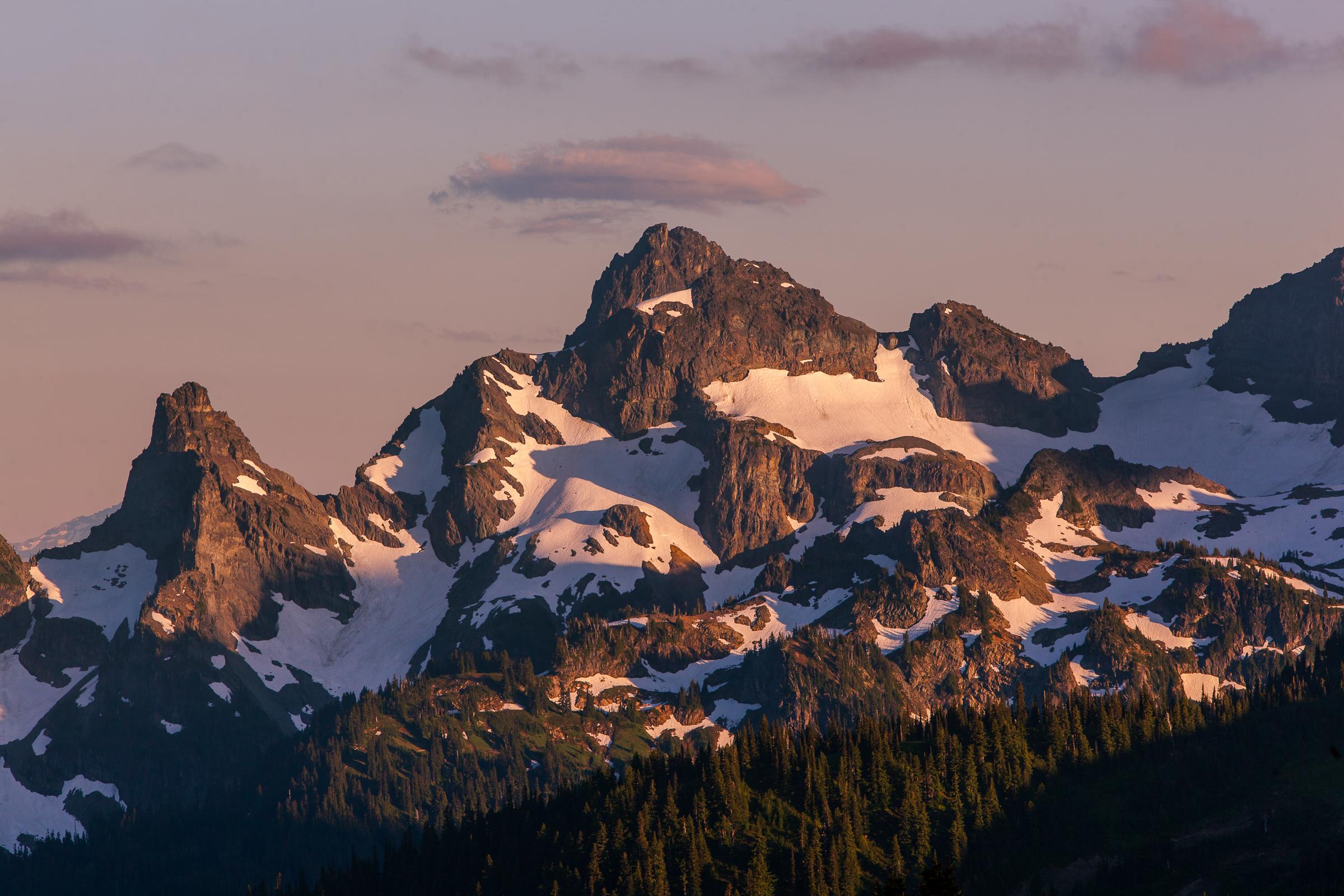 Last Light Along the Ridges