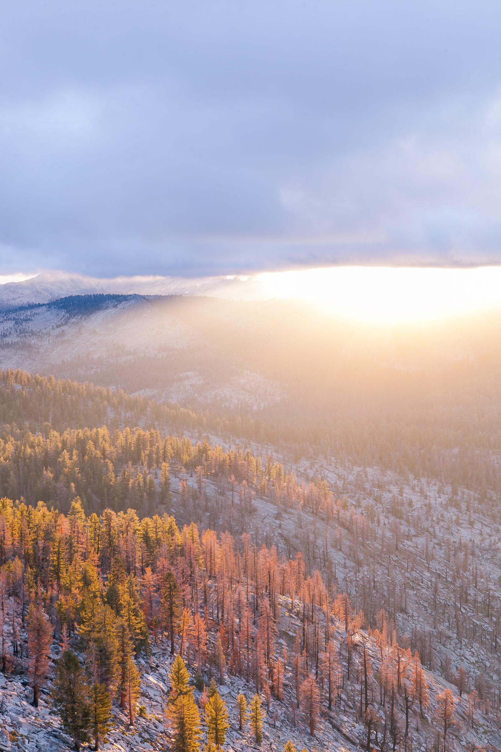 Sunrays Over the High Sierras