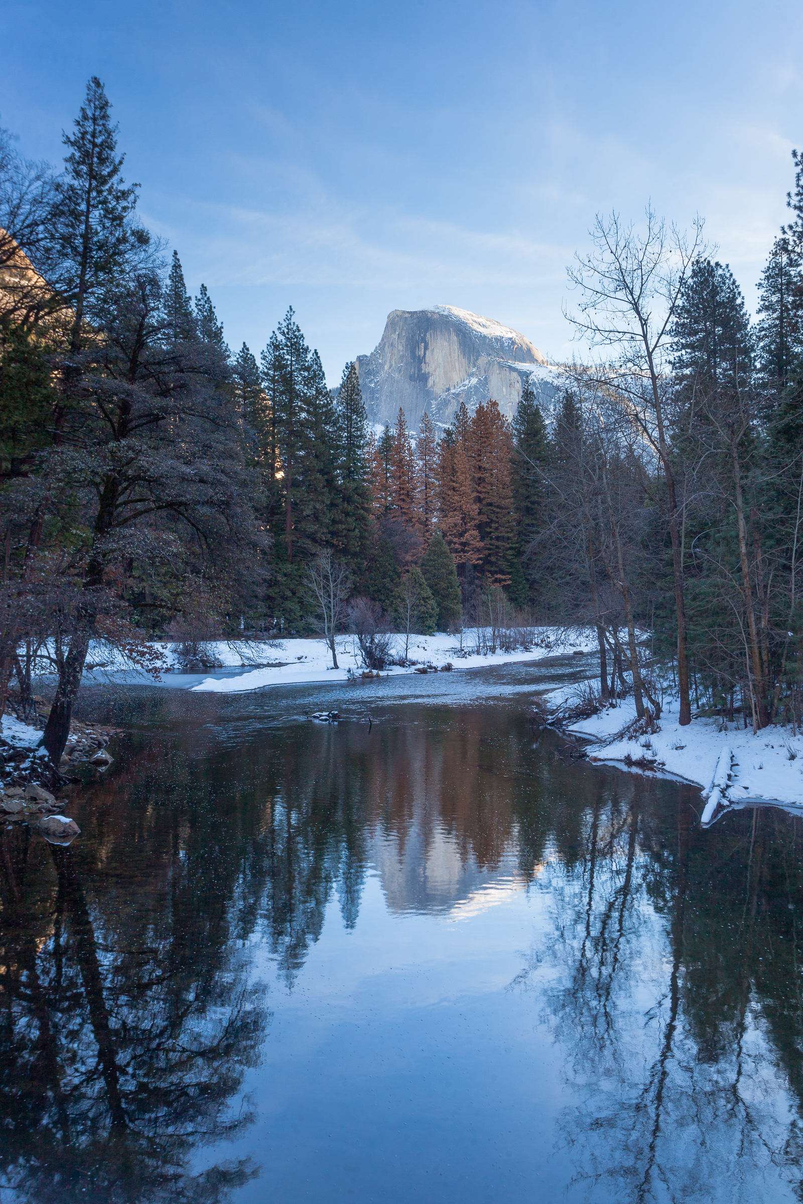Winter Reflections of Half Dome