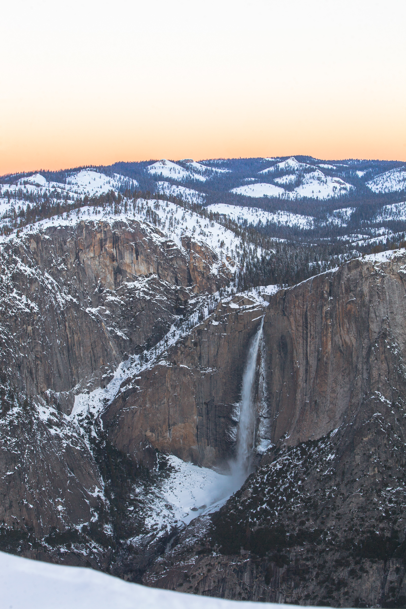 Winter Yosemite Falls Sunrise