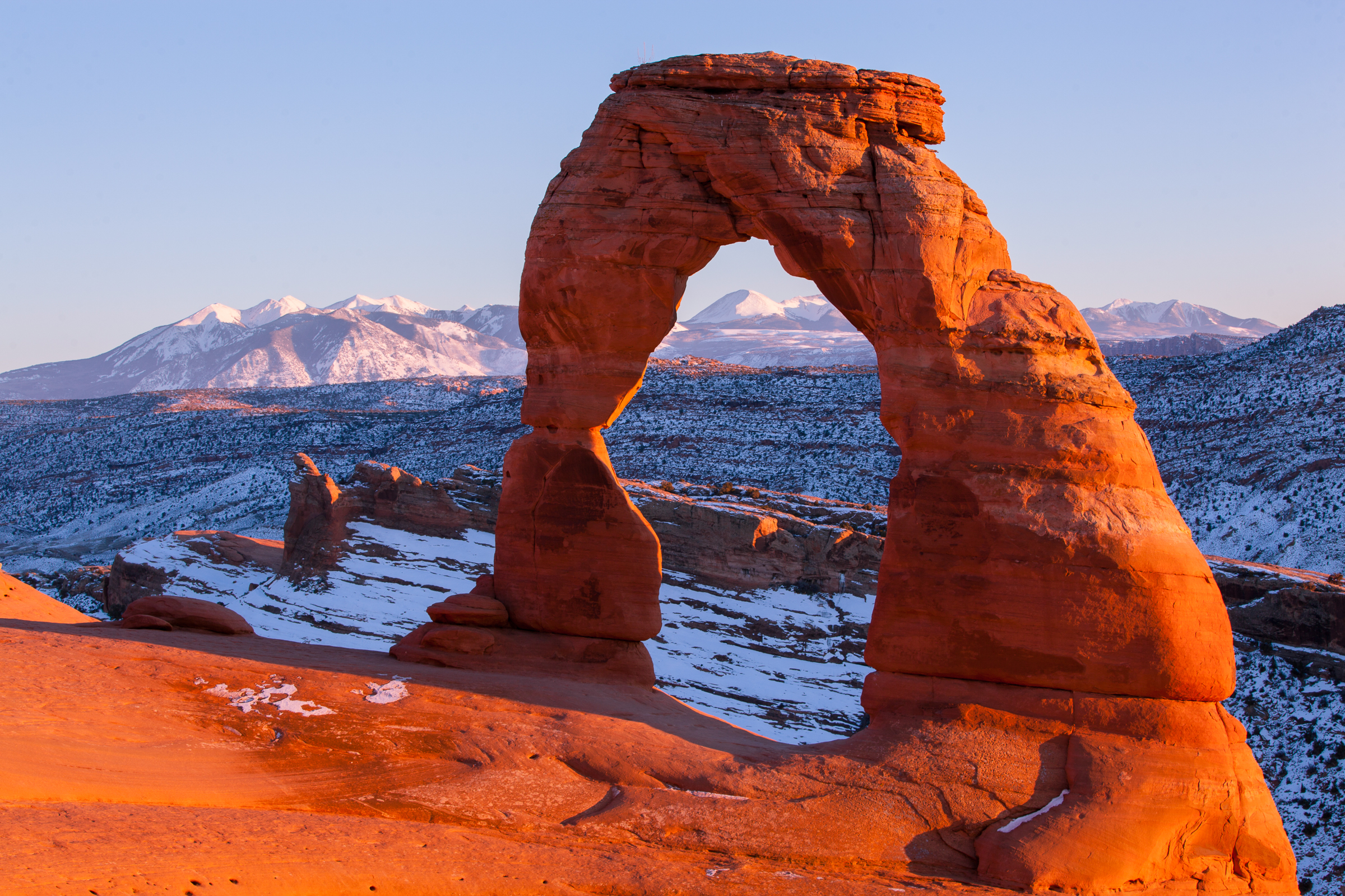 Last Light on Delicate Arch